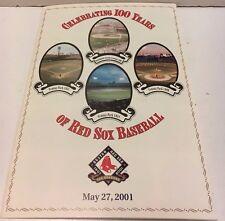 2001 Boston Red Sox 100th Anniversary Folder Williams Yastrzemski