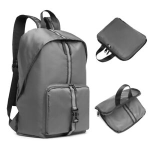 Unisex Polyester Rucksack Lightweight Foldable Water Resistant Backpack