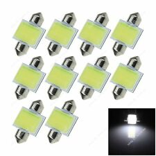10x White 31MM 12 Chips COB LED Festoon Light Dome Lamp Map Interior Bulb 6430
