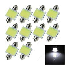 10x White 31MM 12 Chips COB LED Festoon Light Dome Lamp Map Interior Bulb 6430