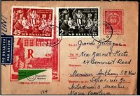 Bulgaria 1961 Airmail Registered to UK Congress Social Democratic Party
