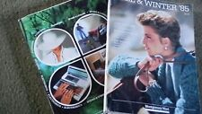 Two 1985 Dept Store Catalogs  MONTGOMERY WARD spring summer fall winter