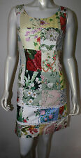 SCOTT SPAHR Multi Patchwork Floral Madras Dress Custom Made Rehobeth Beach M S