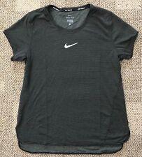 Nike Aeroreact Short Sleeve Running Shirt Black Womens Size M Medium 920778-010