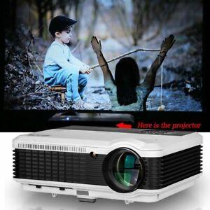 6000LM Heimkino Beamer LCD Projektor HD LED Videos Spiele 1280*800 HDMI USB VGA
