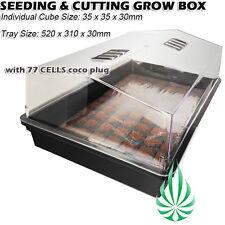 Seeding Cutting Cloning 77 COCO Plug Tray Hydroponics Propagation Solid Dome Kit