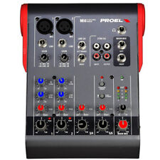 PROEL Mi6 Compact Mixer Small Format 6 Channel Mixing Console Designed in Italy