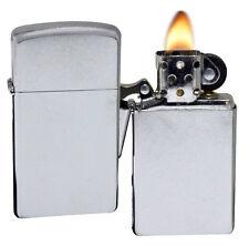 Zippo 1607 Slim Street Chrome Sealed Windproof Pocket Lighter NEW
