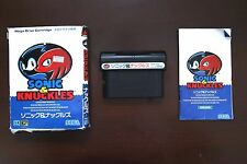 Sega Mega Drive SONIC and KNUCKLES Japan Import game US Seller