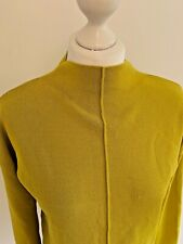 RIVER ISLAND Ladies Women's Pistachio Green High Neck Fine Knit Jumper Top UK 8