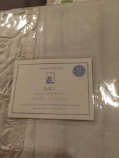 "1 Piece NWT Pottery Barn Kids Lucy Velvet blackout drape 44x63"" Ivory Ruffle"