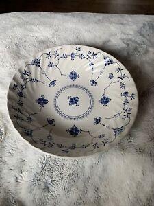"Churchill Finlandia 9"" Vegetable Serving Bowl Staffordshire Blue White"