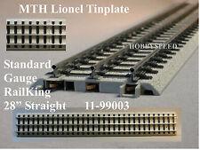 "MTH LIONEL CORPORATION TINPLATE REALTRAX STANDARD GAUGE 28"" STRAIGHT 11-99003"