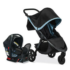Britax B-Free Stroller & Endeavours Car Seat Travel System Frost Display Model!!