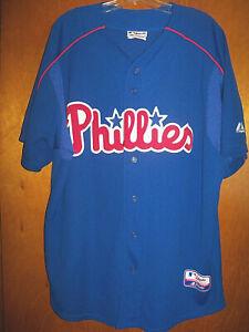 VTG Authentic Majestic Philadelphia Philles Batting Practice Baseball Jersey