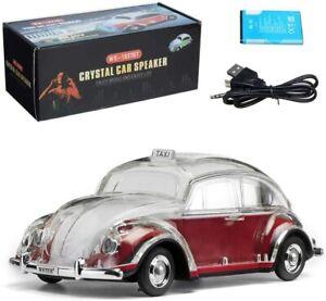 Volkswagen Beetle Red Speaker  BT Indoor/Outdoor Portable USB PORT/AUX INPUT