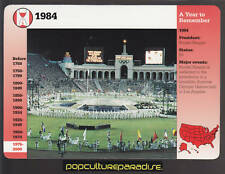 1984 LOS ANGELES L.A OLYMPIC GAMES Picture History GROLIER STORY OF AMERICA CARD