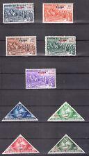 Ecuador 1939 Overprint 9 mint stamps