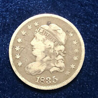 1835 Capped Bust Half Dime Large Date Large 5c