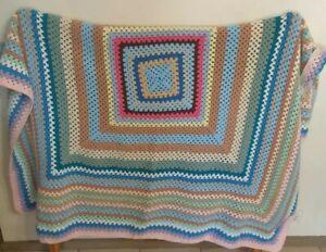 Crotchet Knit Blanket Throw Squares 150 cm x 150 cm