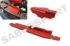 Perrin Red Pulley Cover + Radiator Shroud for 2008-2014 Subaru WRX and STI