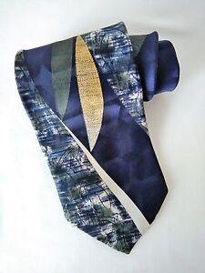 Puritan Special Edition Men's Necktie Tie Abstract Blue Gold Green