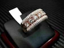 Band Ring in 14K Rose Gold Over 3Ct Round Cut Diamond Men's Engagement Wedding