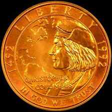 1992-W Columbus $5 Gold Commemorative Coin, PCGS MS69 OGH