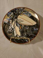 """Licensed Harley-Davidson """"94 Special"""" Franklin Mint Collector's Plate Platinum"""