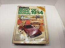 Chiltons Import Car Repair Manual 1984 Volkswagen Honda