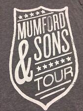 Mumford & Sons Tour Small Gray T-Shirt Tri Blend Rayon Folk Band Rock Concert