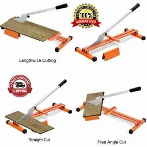 Laminate Vinyl Flooring Cutter Hand Tool V-Support Heavy Duty Steel Ergonomics