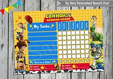 TOY STORY PERSONALISED REWARD CHART BUZZ WOODY BEHAVIOUR CHORE KIDS ACTIVITY