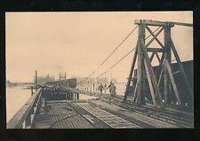 WW1 Zeebruge Belgium Breach in the viaduct English bridge PPC