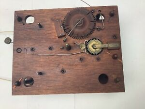 Wooden works clock movement 8day Jerome&Darrow/Atkins&Downes circa 1830 As-Is