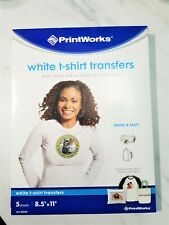 Printworks White T-shirt Transfers. T-Shirts and Crafting fun. Great Prices!