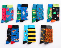 Men's Matching different Design Combinations Bee Cotton Crew Colorful Funny Sock