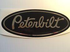 3 Peterbilt Chrome and black marine vinyl Grill Hood Decals Semi custom stickers