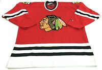 Chicago Blackhawks NHL Vintage Pro Player Jersey Made In Canada Size Large