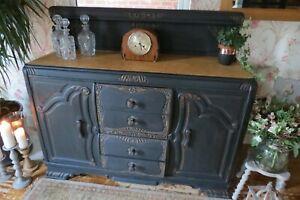Antique Solid Oak sideboard, cabinet. Dresser