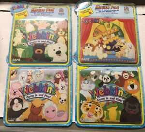 Official Webkinz Mouse Pads, All 4 Styles With Online Codes To Expand Your Play