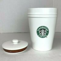 Starbucks Vintage Ceramic Canister Cookie Jar With Rubber Seal Lid Large 8.5""