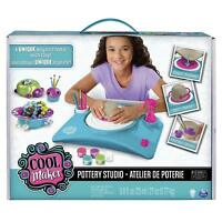 Pottery Cool Studio Craft Set Ages 6+ Toy Build Create Girls Paint Clay Design