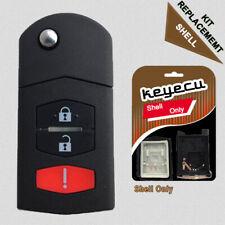 Replace Flip Shell Remote Key Case Fob 3 Button For Mazda 3 5 6 RX8 CX5 CX7 CX9