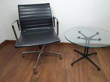 Vitra Charles Eames EA 108 -Chair Schwarz Leder chrom Konferenz, Büro, Stuhl
