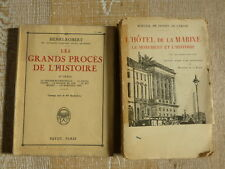 lot Les grands PROCES de l'histoire HOTEL DE LA MARINE CONDE NEY MASQUE DE FER