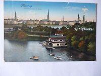 Ansichtskarte Hamburg 1914 Lombardsbrücke mit Alster