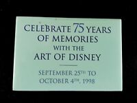 75 Years of Memories with The Art of Disney Promotional Button/Pin Back
