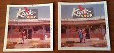 1973 Kwik Shop Front Door Photographs Color Vintage Convenience Store