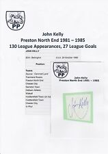 JOHN KELLY PRESTON NORTH END 1981-1985 ORIGINAL HAND SIGNED CUTTING/CARD